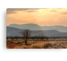 Dusty Sunset over Amata Metal Print