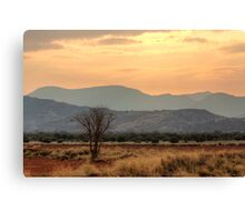 Dusty Sunset over Amata Canvas Print