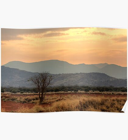 Dusty Sunset over Amata Poster
