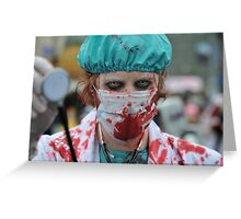 Paging Dr Zombie Greeting Card