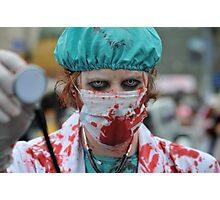 Paging Dr Zombie Photographic Print