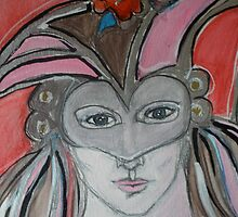 Masked (Detail) by Anthea  Slade