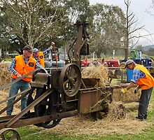 Baling Hay Corryong  201109171930 by Fred Mitchell
