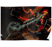 Santaclause rides a  harley Poster
