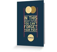 Typography Posters - Bob Marley Quotes Greeting Card