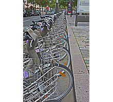 Vélos for hire, Bercy, Paris Photographic Print