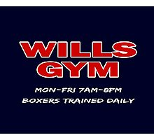 Southpaw - Wills GYM Photographic Print
