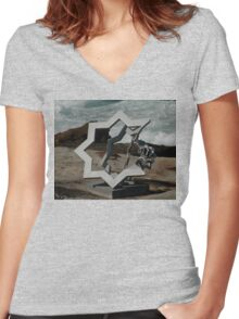 Star Of David @ Sculptures By The Sea Women's Fitted V-Neck T-Shirt