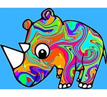 Colorful Rhino Photographic Print