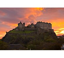 Sunrise over Edinburgh Castle Photographic Print