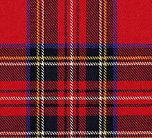 Red Tartan Fabric Iphone Cover by Laura Davey