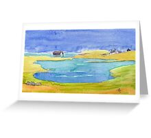 """Dore Holm, """"The Drinking Horse"""" Greeting Card"""