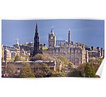 Towers of Princes Street, Edinburgh Poster
