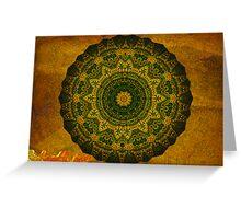 Oasis Mandala (signed) Greeting Card
