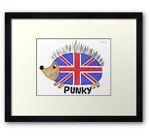 Punky the Hedgehog Union Jack Framed Print