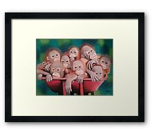 "Pastel and Charcoal Drawing Titled ""Orphans Of Palm Oil"" Framed Print"