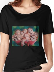 "Pastel and Charcoal Drawing Titled ""Orphans Of Palm Oil"" Women's Relaxed Fit T-Shirt"