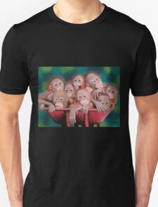 """Pastel and Charcoal Drawing Titled """"Orphans Of Palm Oil"""" T-Shirt"""