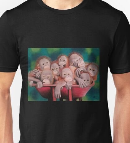 "Pastel and Charcoal Drawing Titled ""Orphans Of Palm Oil"" Unisex T-Shirt"