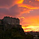 Sunrise over Edinburgh Castle (3) by Philip Kearney