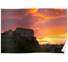 Sunrise over Edinburgh Castle (3) Poster