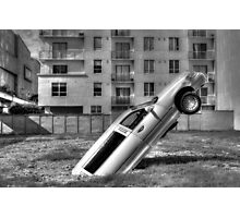 Flying Limo Photographic Print