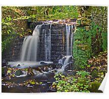 Rivelin Valley cascade. Poster
