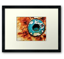 Hole In The Rust Framed Print