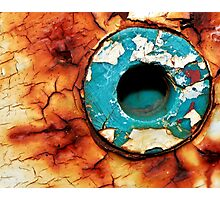 Hole In The Rust Photographic Print