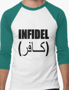 Infidel Black Men's Baseball ¾ T-Shirt