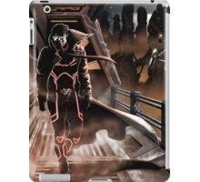 Man walking in a sci-fy city iPad Case/Skin