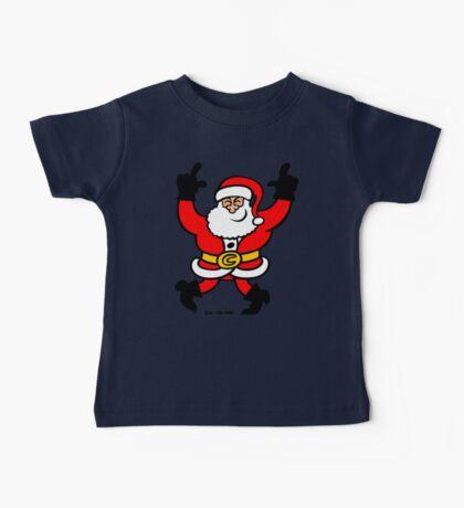 Dancing Santa Claus Baby Tee