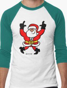 Dancing Santa Claus Men's Baseball ¾ T-Shirt