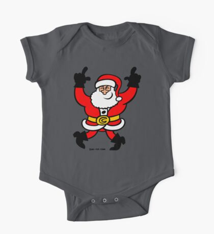 Dancing Santa Claus One Piece - Short Sleeve