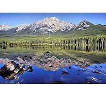 Pyramid Mountain Reflection Photographic Print