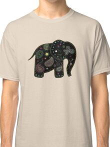 black embroidered elephant Classic T-Shirt
