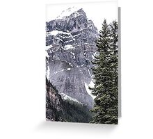 Mount Perren - One of The Ten Peaks - Moraine Lake  Alberta Greeting Card