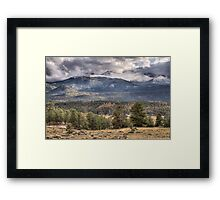 Rocky Mountain Cloudscape Framed Print