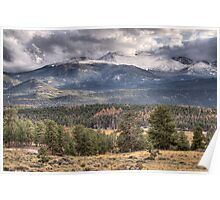 Rocky Mountain Cloudscape Poster