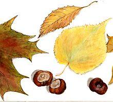 autumn leaves by Nataliya Stoyanova