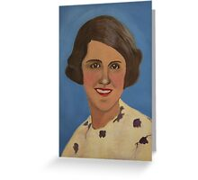 Vintage  Portrait Greeting Card