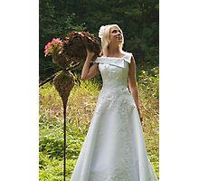 Bride outdoor Photographic Print