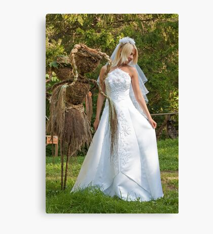 Bride outdoor Canvas Print