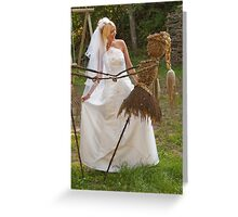 Bride outdoor Greeting Card