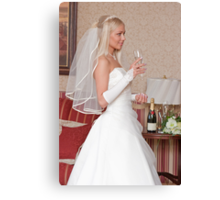 Bride with glass Canvas Print