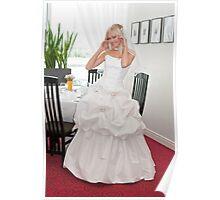 Bride in interior Poster