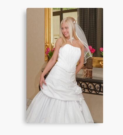 Bride on the mirror Canvas Print
