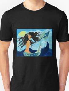 Mermaid, Summer, Waves and Sea T-Shirt