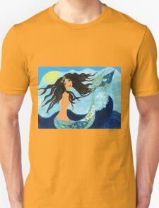 Mermaid, Summer, Waves and Sea T-Shirt