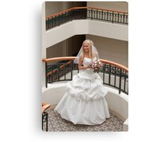 Bride in gallery Canvas Print